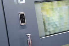 Modern dörrdetalj Arkivbild