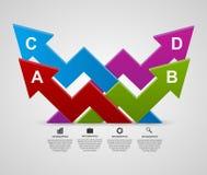 Modern 3d arrows infographic design template. Stock Photos