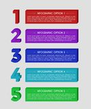 Modern 3D block infographics options banner. Royalty Free Stock Photography