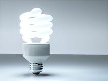 Modern 3D cfl lightbulb design Royalty Free Stock Photos