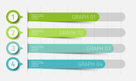 Modern 3d chart, graph. Template for diagram, presentation and chart. Infographics elements. Vector illustration. Modern 3d chart, graph. Template for diagram Stock Image