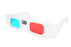 Modern 3D cinema glasses Stock Image