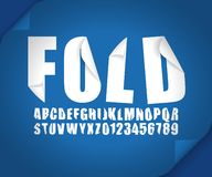 Modern 3d font fold curl bent ribbonin effect vector vector illustration