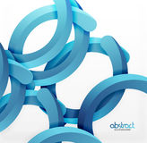 Modern 3d geometrical style background, arch circular lines royalty free illustration