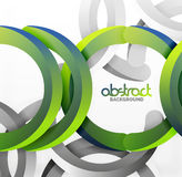 Modern 3d geometrical style background, arch circular lines Stock Photography