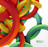 Modern 3d geometrical style background, arch circular lines Stock Images
