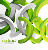 Modern 3d geometrical style background, arch circular lines. Vector template Royalty Free Stock Photography