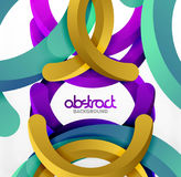 Modern 3d geometrical style background, arch circular lines. Vector template Royalty Free Stock Photo