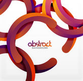 Modern 3d geometrical style background, arch circular lines. Vector template Stock Image