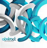 Modern 3d geometrical style background, arch circular lines. Vector template Royalty Free Stock Photos