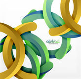 Modern 3d geometrical style background, arch circular lines Royalty Free Stock Images
