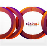 Modern 3d geometrical style background, arch circular lines Royalty Free Stock Image