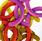 Modern 3d geometrical style background, arch circular lines Stock Photos
