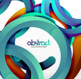 Modern 3d geometrical style background, arch circular lines Royalty Free Stock Photos