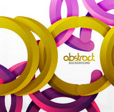 Modern 3d geometrical style background, arch circular lines stock illustration