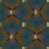 Modern 3d geometrisch vaag radiaal motie naadloos patroon Tren royalty-vrije illustratie