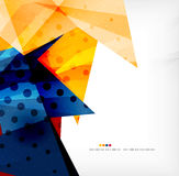 Modern 3d glossy overlapping triangles Royalty Free Stock Photography