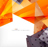 Modern 3d glossy overlapping triangles Royalty Free Stock Photos