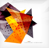 Modern 3d glossy overlapping triangles Royalty Free Stock Photo
