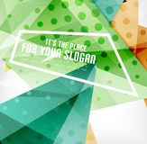 Modern 3d glossy overlapping triangles Stock Photos