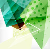 Modern 3d glossy overlapping triangles Royalty Free Stock Image