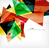 Modern 3d glossy overlapping triangles Royalty Free Stock Images