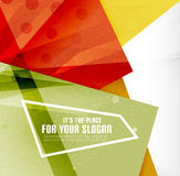 Modern 3d glossy overlapping triangles Stock Photo