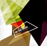 Modern 3d glossy overlapping triangles Stock Images