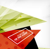 Modern 3d glossy overlapping triangles Stock Photography