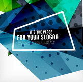 Modern 3d glossy overlapping triangles Stock Image