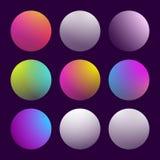 Modern 3d gradient set Stock Image