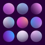 Modern 3d gradient set. With round abstract backgrounds. Colorful fluid covers for calendar, brochure, invitation, cards. Trendy soft color. Template with round Royalty Free Stock Image
