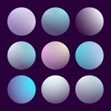 Modern 3d gradient set. With round abstract backgrounds. Colorful fluid covers for calendar, brochure, invitation, cards. Trendy soft color. Template with round Royalty Free Stock Photo