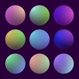 Modern 3d gradient set Royalty Free Stock Images