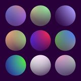 Modern 3d gradient set. With round abstract backgrounds. Colorful fluid covers for calendar, brochure, invitation, cards. Trendy soft color. Template with round Royalty Free Stock Photography