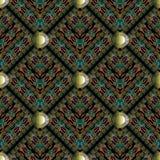 Modern 3d greek key seamless pattern. Vector background with ge. Ometric shapes, rhombus, stripes, frames, meander, greek key, circles, floral baroque ornaments vector illustration