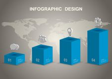 Modern 3D infographic design template. Can be used for business step options royalty free illustration