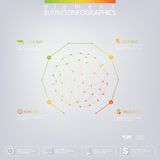 Modern 3D infographic network template with place Royalty Free Stock Photography