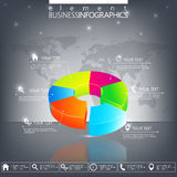 Modern 3d infographic template. Can be used for. Workflow layout, diagram, chart, number options, web design Stock Photos
