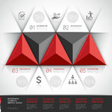 Modern 3d, infographics business triangle. Royalty Free Stock Photography