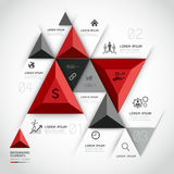 Modern 3d infographics business triangle. Vector illustration. can be used for workflow layout, diagram, banner, number options, step up options, web design Royalty Free Stock Photos
