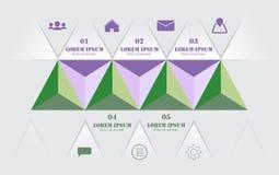 Modern 3d, infographicsaffärstriangel också vektor för coreldrawillustration royaltyfri illustrationer