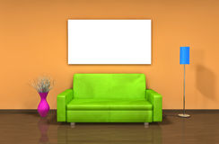 Modern 3d interior Royalty Free Stock Photo