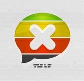 Modern 3d paper speech bubble design. Modern 3d paper speech bubble vector design Stock Photography