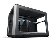 Modern 3D printer Royalty Free Stock Images
