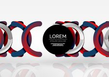 Modern 3d ring vector abstract background Stock Photos