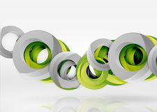 Modern 3d ring vector abstract background Royalty Free Stock Images