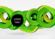 Modern 3d ring vector abstract background Royalty Free Stock Image