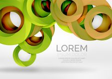 Modern 3d ring vector abstract background Stock Photography