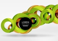Modern 3d ring vector abstract background Stock Image
